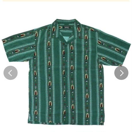 レーヨン素材メキシカンスカルシャツ