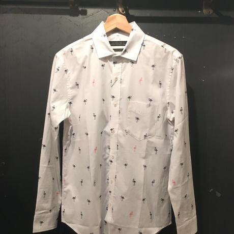 ジャガードペリカン&クルマ柄シャツ