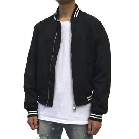URKOOL / SATAIN BOMBER JACKET / BLACK