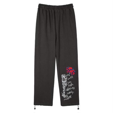 MASION EMERALD / FLORAL DRAWSTRING SWEAT PANTS