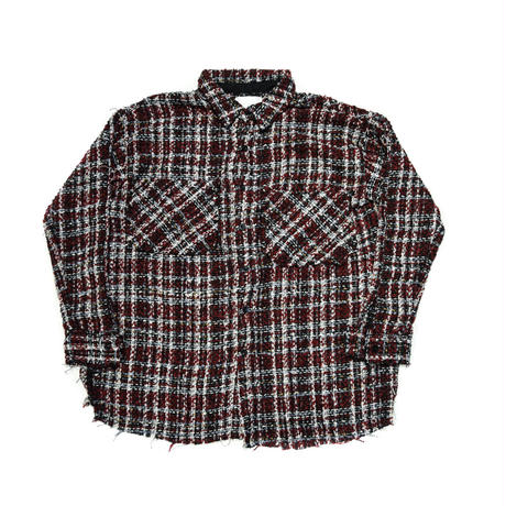 AMOUR / TWEED SHIRT / RED