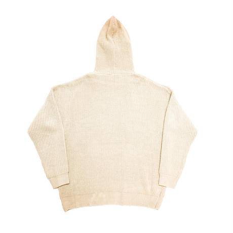 X KNIT PULLOVER HOODIE