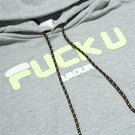 AMOUR / FUCK U AMOUR PULLOVER HOODIE  / WHITE