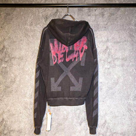 OFF-WHITE / DIAG VINTAGE OVER HOODIE ANTHARACITE
