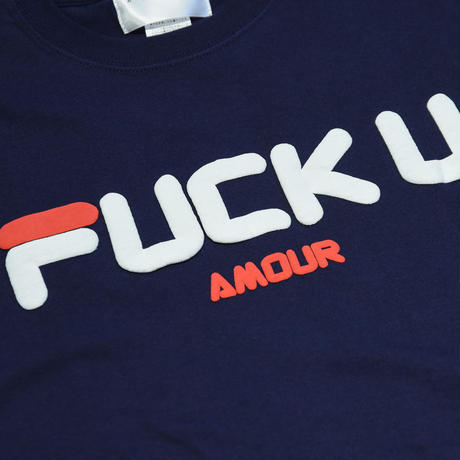 AMOUR / FUCK U AMOUR SS TEE  / NAVY_RED