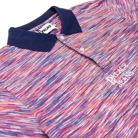 PALACE  SPACE YARN JEANS POLO / PINK