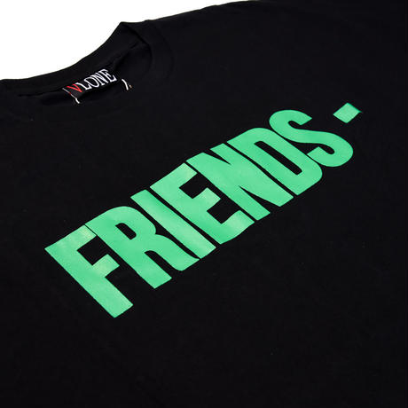 VLONE  FRIENDS TEE / BLACK_GREEN
