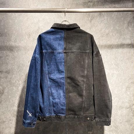 COMP®︎EX / HALF × DENIM JACKET / BLACK × BLUE