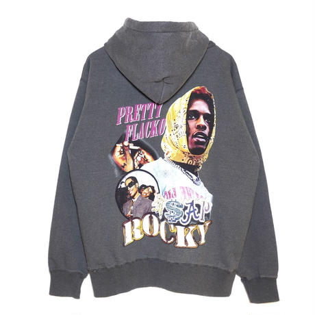 AMOUR / WASHED PULLOVER HOODIE A ROCKY