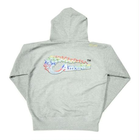 AMOUR / AMOUR WORLD PULLOVER HOODIE / GRAY