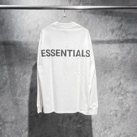 ESSENTIALS REFLECTIVE LOGO LS TEE