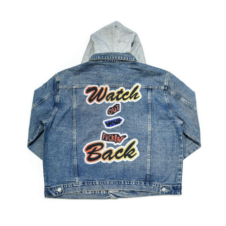 AMOUR / DENIM HOODED JACKET W.O.Y.F.B  / BLUE