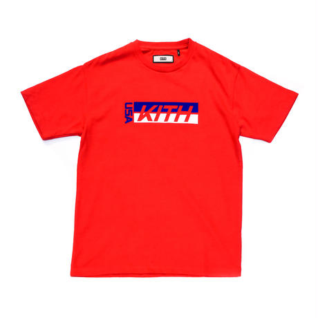 KITH  USA FACTORY TEAM TEE / RED