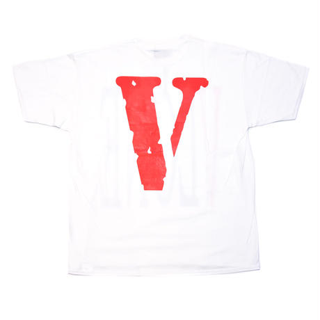 VLONE  LOGO TEE /  WHITE RED_BLUE