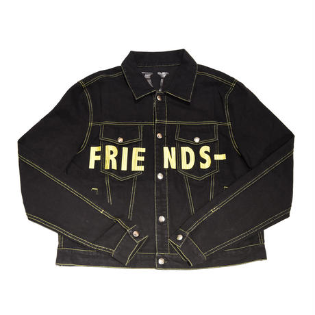 VLONE / FRIENDS DENIM JACKET / BLACK_YELLOW