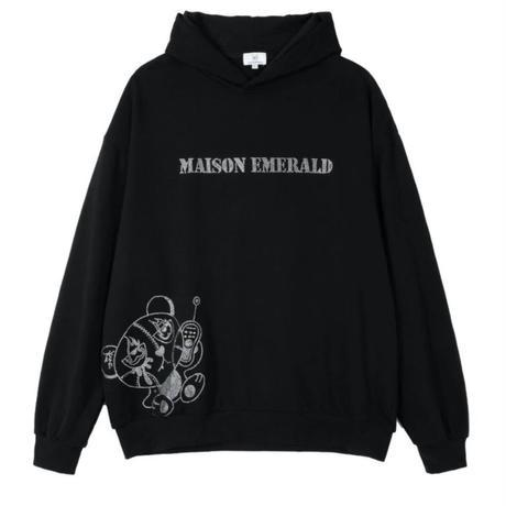 MAISON EMERALD / PATCHWORK TEADYBEAR HOODIE