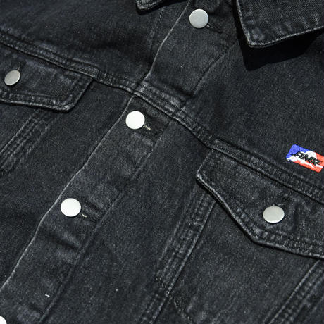 AMOUR / DENIM HOODED JACKET W.O.Y.F.B  /BLACK