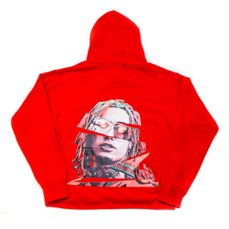 "AMOUR / PULL OVER HOODIE ""GUCCI GANG"" / RED"