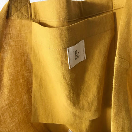 cotton linen bag (mustard)