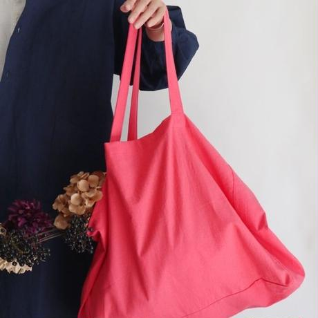 cotton linen bag (coral pink)