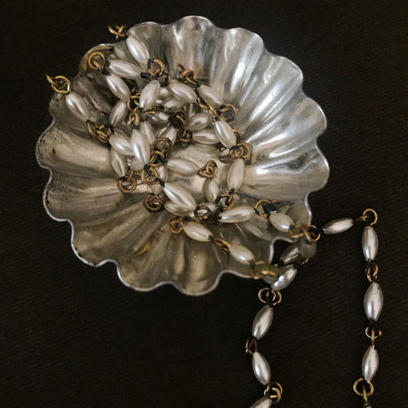 japan vintage glass pearl necklace