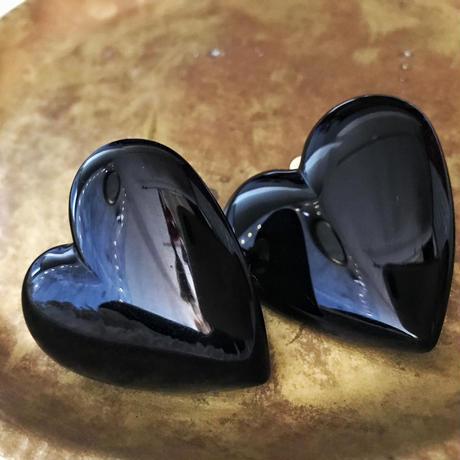 heart cabochon earrings