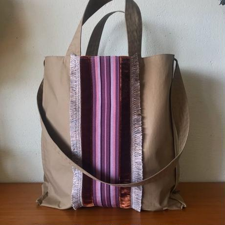 french ribbon 2way tote bag (beige)