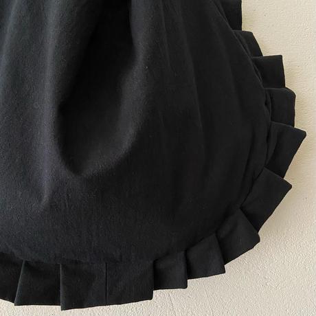 frill shoulder bag (black)