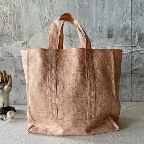 vintage  damask cloth  bag (pink)