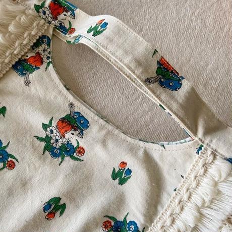 vintage  cloth bag  (a)
