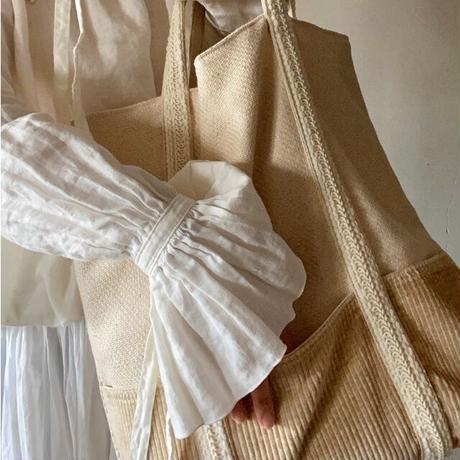 cotton hemp corduroy bag