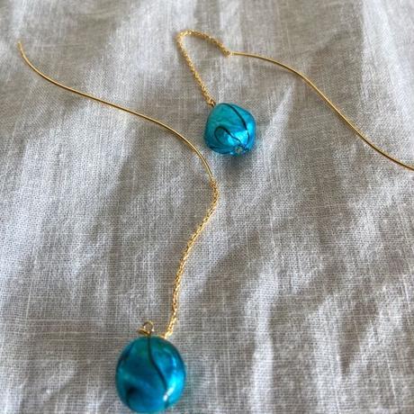 baroque pearl pierce (blue)