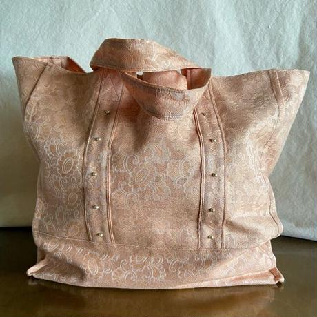 vintage  damask cloth  bag (pink)