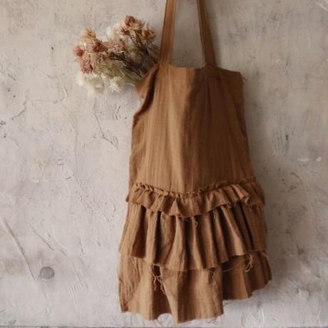 gauze frill bag (camel)