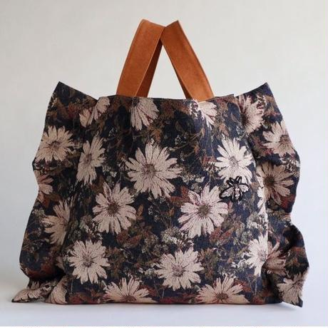 flower frill bag (navy)