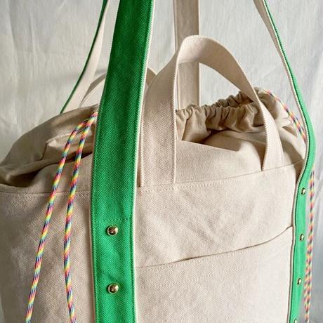 canvas 2way tote bag  (green)