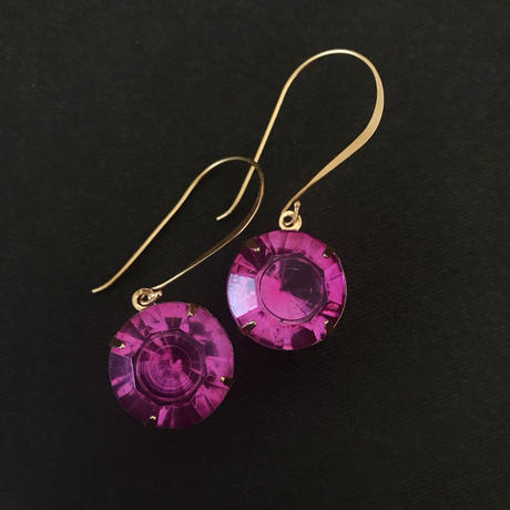 czech glass pierce (rose pink)