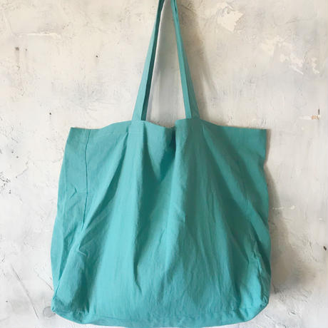 cotton linen bag (smoky aqua)