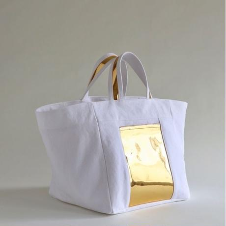 square canvas tote bag (white)