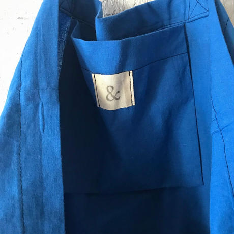 cotton linen bag(royal blue)