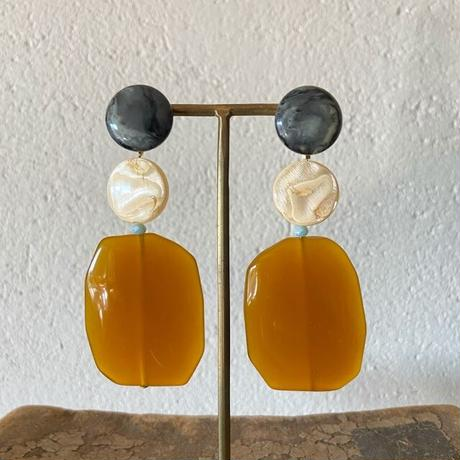 Italian beads earrings (mustard)