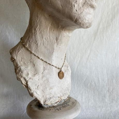 vintage medal necklace (pearl)