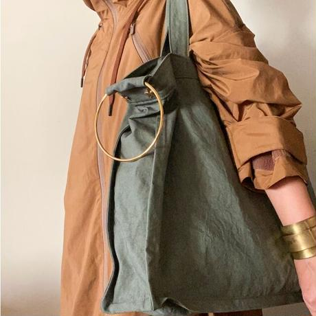 fanage cotton 2way bag (khaki)