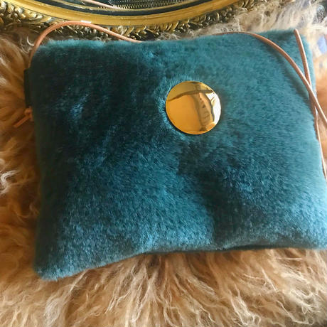 fur shoulder  bag (green)