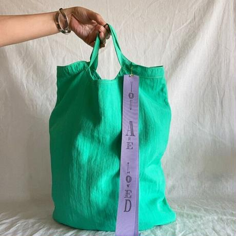 pastel color tote bag (pastel green)