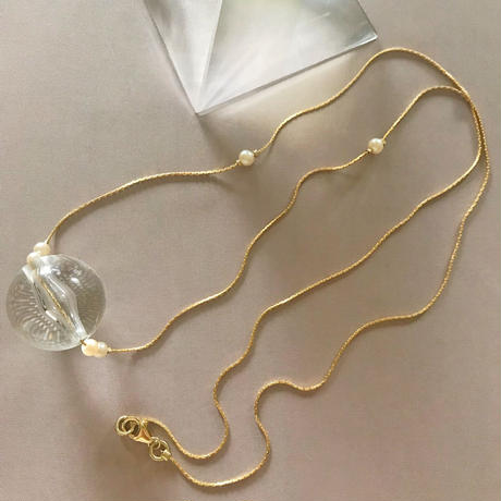 clear beads  necklace (gold)