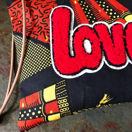 african fabric porch (Love)