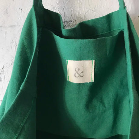cotton linen bag (green)