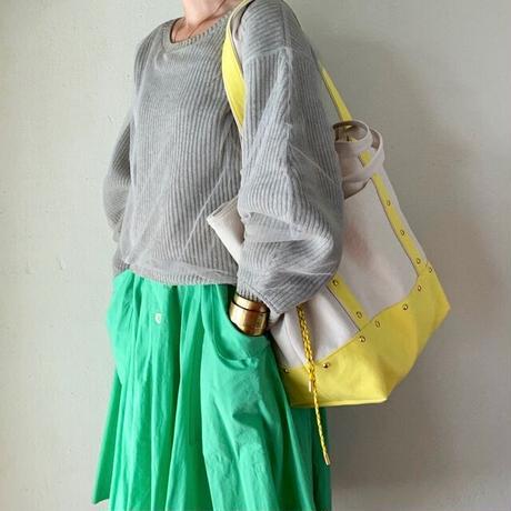 canvas 2way tote bag  (lemon)