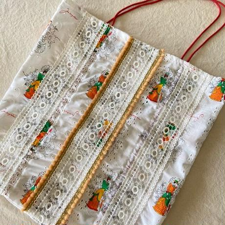vintage  cloth  bag (f)